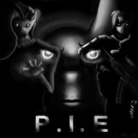 P.I.E Black and White by TatterTailArt