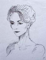 Irene Adler pen sketch by Krepf