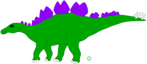 Tevin the Stegosaurus by DinoLover09