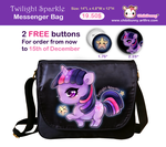 Twilight Sparkle messenger bag by tho-be