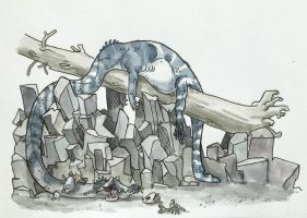 The Most Tired Tanystropheus in the Triassic by FluffySpiderz