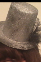 Silver Mini Tophat by Rainbowkitty-Designs