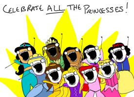 Celebrate ALL the Princesses by Durnesque