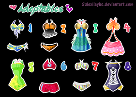 Swimsuit adoptables - SET 1# (CLOSE) by Woogyuxi
