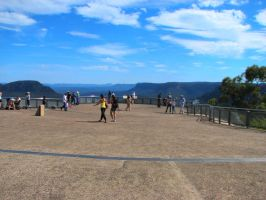 The Lookout at Echo Point by Seralunai
