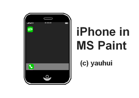 iPhone in MS Paint by thefreaks