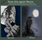 Draw this again :Were wolf by Indira-Ceron