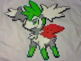 Large Shaymin Sky-Form Perler by Perler-Pop