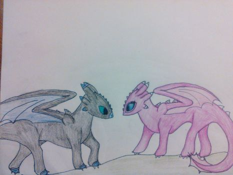 NightFury Drawing! by CandyCloudArtnmore