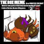 Box Meme: Zippy, Roach, and Toasty in a box by theultimateasian