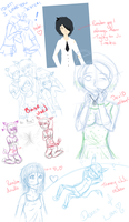 Yet another sketchdump.. by Chickadee-chii