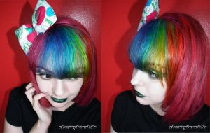 Pink Rainbow Hair  Girl CherryBomb81 by cherrybomb-81
