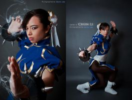 Street Fighter: Chun Li stances by Benny-Lee