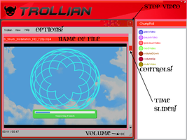 Trollian (from Homestuck) VLC Skin by YaruKatsaros