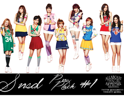 SNSD PNG Pack # 1 by AATG
