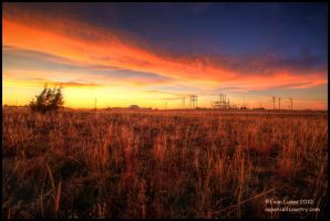 Fire in Kansas II by FramedByNature