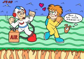 Dig Dug in Love by FriskyWoods