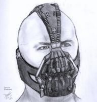 Bane pencil drawing by dariusvincenthughes