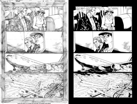Grifter #8 page 1 inks... by Hachiman1
