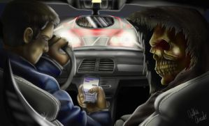 Texting While Driving by RavenTheAngelofDarkn