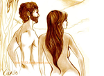 Adam and Eve by kika1983
