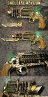 Skeletal Trench Gun - Steampunk Raygun by AetherAnvil