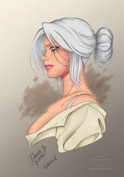 Ciri from The Witcher 3 By Dannith (Colored) v0.9 by JakeCarver