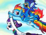 Almost A Sonic Rainboom by Aurora-Chiaro