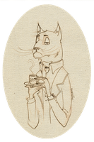 Gentleman cat by ryszard-redfur
