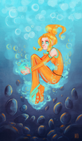 underwater spark by hazumonster