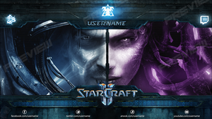 StarCraft 2 - TwitchTV (Video Player Banner) by Crussong