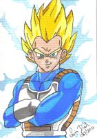 SSJ Vegeta ACEO card by LadyNin-Chan
