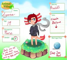 .::Lynne the Axolotl::. Dobutsu-Mura Application by MonoSpectator