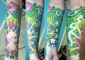 Full sleeve in colors by gettattoo