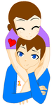 Rosie and Thomas Hug by Luv2Drw