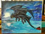 Toothless the Night Fury by Emakura