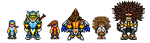Energix and Negatrix Sprites by Greasiggy