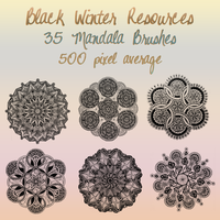 Black Winter Mandala Brushes by blackxwinter