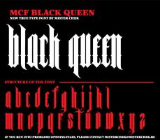 MCF_Black_Queen font by MisterChek