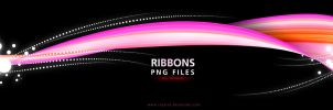 RIBBONS PNG Pack by Rozairo