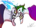 Hades and Joker by amymethvenart