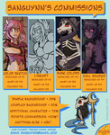 Summer 2015 Commission Info by Sanguynn