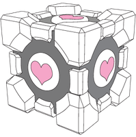 Companion Cube vector by xQUATROx