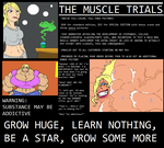 The Muscle Trials: FULL-COLOR ILLUSTRATED FMG TALE by Saxxon