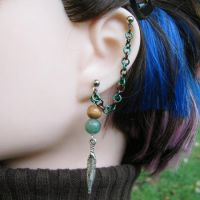 Elven Ranger Cartilage Earring by merigreenleaf