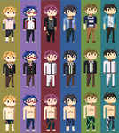 Free! Characters repeat by drin-chan