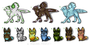 Furry Creatures Mixed sheet 1- OPEN! by StarSushi-Adopts