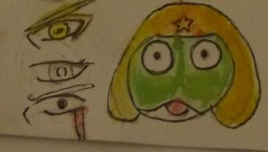 Keroro and eyes lol by Fran48