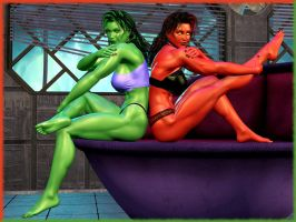 Muscle Ladies by Ethakar