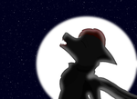 Furry Howling to the moon by HeroHeart001